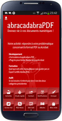 abracadabraPDF application capture écran