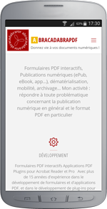 mockup de l'application mobile abracadabraPDF