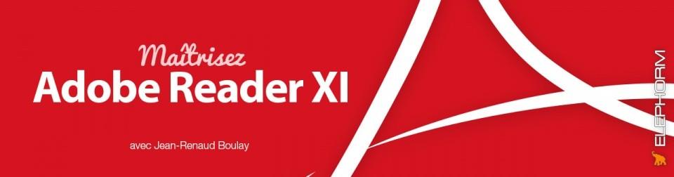 Bandeau formation Adobe Reader 11