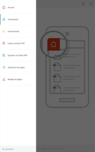Acrobat DC mobile - accueil