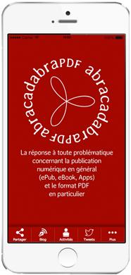 mockup iPhone6application mobile abracadabraPDF