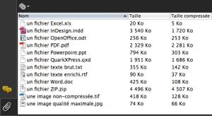 Les compressions de fichiers dans un Porte-document PDF