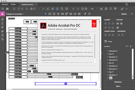 Editeur de formulaire d'Acrobat Pro