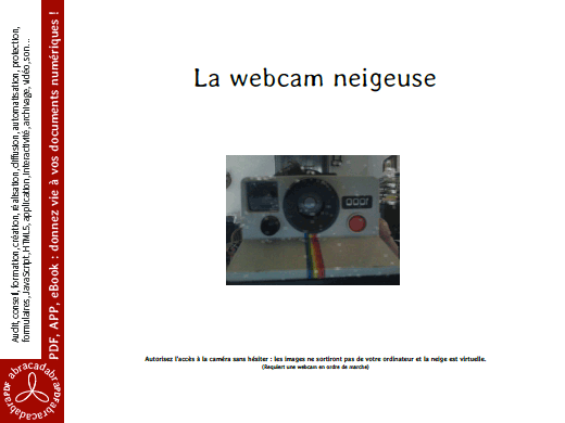 La webcam neigeuse