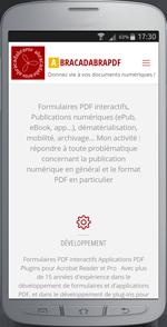 mockup de l'application mobile abracadabraPDF