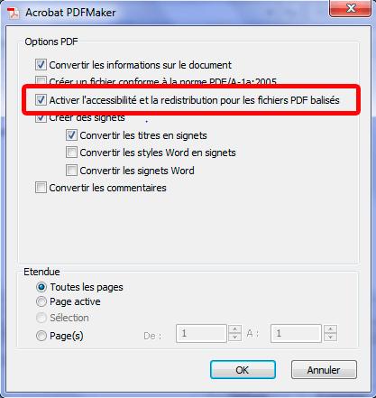 Balisage avec PDF-Maker