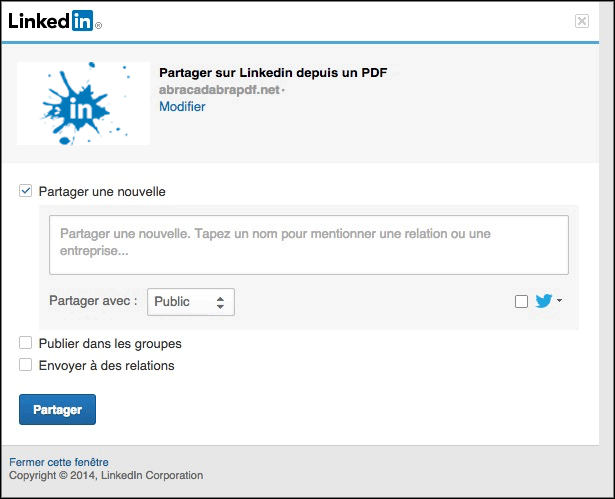 Exemple de message Linkedin