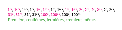 GREP, remplacer les ordinaux incorrects