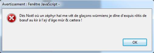 alerte Unicode