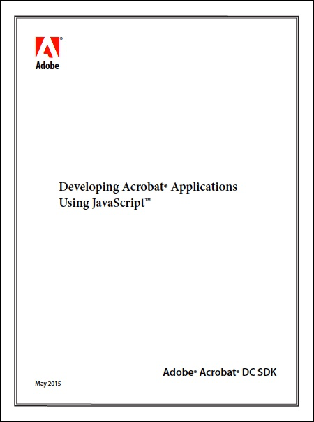 Acrobat DC SDK couverture