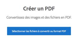 Acrobat DC, créer un PDF
