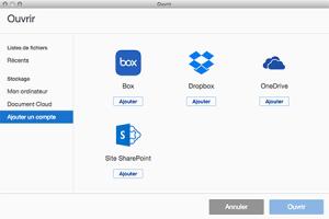 Acrobat DC : intégration Cloud